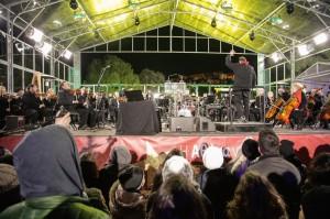 Montazna hala nameneta za pokrivanje na koncert
