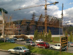 Stadion Arena Filip Vtori gradezno skele